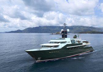 Highlander charter yacht interior designed by Bannenberg & Rowell