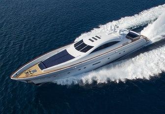Subzero charter yacht exterior designed by Caputi Studio