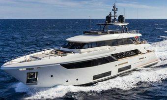 December Six yacht charter Custom Line Motor Yacht
