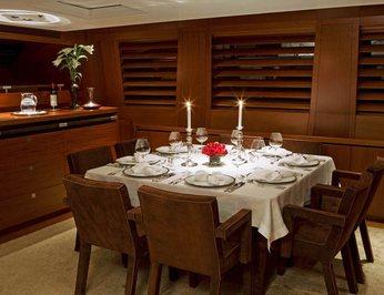 Upper Salon Dining - Night