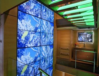 Main Deck Video Wall Stairs