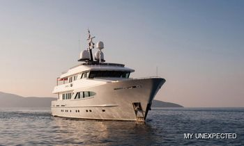 38m / 125' motor yacht UNEXPECTED: recently refitted and fresh for charter in the Mediterranean