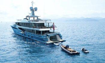 55m Amels charter yacht GALENE delivered