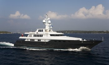 Last-minute Mediterranean charter availability for 49m motor yacht CYAN