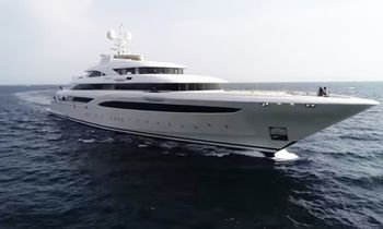 Video: 85m M/Y O'PTASIA during sea trials in Greece