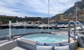 Charter yachts gather for the Monaco Grand Prix 2018