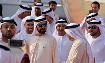 Sheikh Mohammed Visits Dubai Boat Show 2017