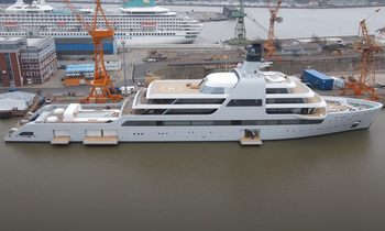 Video: First look at 140m superyacht SOLARIS totally unveiled