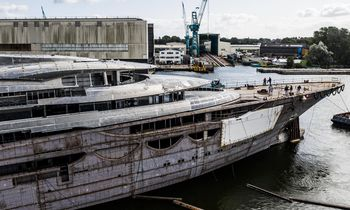 First glimpse of 116m Lurssen superyacht 'Project Testarossa'