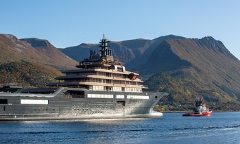 World's largest superyacht REV arrives in Norway for outfitting