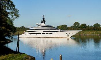 Latest: 115m Lurssen mega yacht ENZO undertakes sea trials