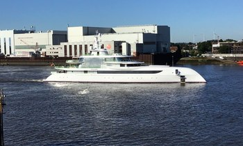 80m luxury yacht EXCELLENCE heads out on sea trials
