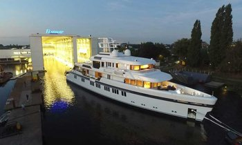Video: First ever ice-class Feadship launches