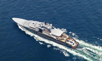 135m Lurssen superyacht CRESCENT arrives in the Mediterranean