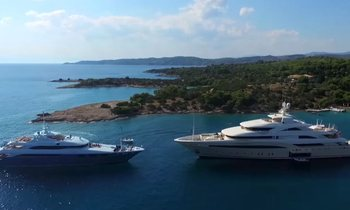 Charter Yachts Filmed Cruising In Greece
