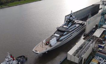Video: Lurssen floats 142m megayacht NORD for second time