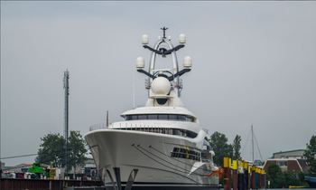 Largest Feadship superyacht ANNA prepares for sea trials