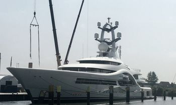 Video: The launch of 110m superyacht 'Feadship 1007'