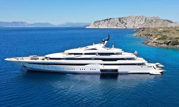 Last-minute availability for Greece yacht charter with brand new 95m yacht O'PARI