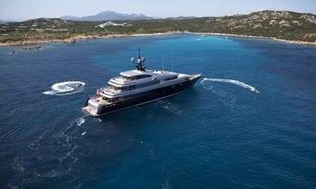Simon Cowell  - X Factor judges on Slipstream yacht