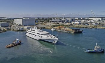 World's largest tri-hulled M/Y 'White Rabbit' delivered