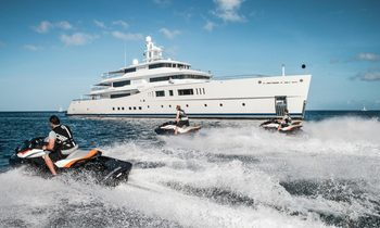 Discovering the Yacht Behind the Golden Neptunes: Motor Yacht 'Grace E'