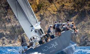Charter yacht WINDFALL wins in her class at Les Voiles de Saint Barth 2019