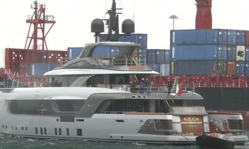 55m charter yacht GECO hits the water