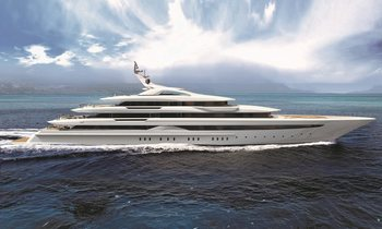 Brand new 95m charter yacht O'PARI on track for 2020 delivery