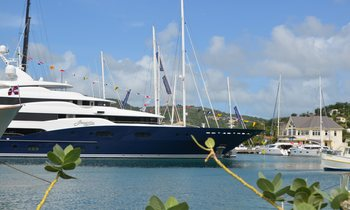 Superyachts get ready for the Antigua Charter Yacht Show