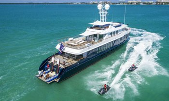 Turquoise superyacht 'Ice 5'  to undergo complete refit