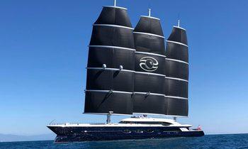World's largest S/Y 'Black Pearl' arrives in Mediterranean