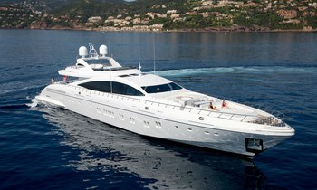 Impressive new 50m Mangusta Maxi Open yacht 'AAA' now available for charter