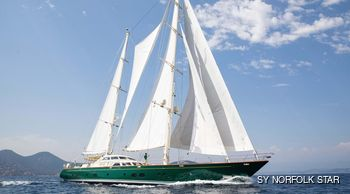 Sailing yacht NORFOLK STAR refitted and fresh for charter in the Mediterranean