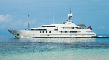 61.5m CALYPSO offers early-bird availability for Caribbean yacht charters