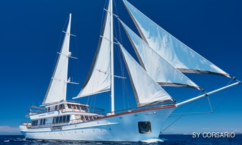 48m sailing yacht CORSARIO offers Croatian charter discount