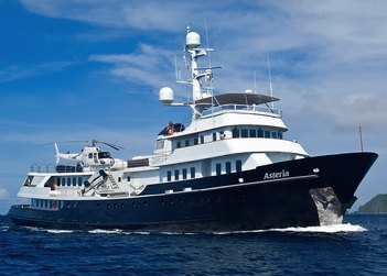 Asteria yacht charter in South East Asia