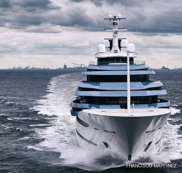 front on image of kaos yacht, formerly jubilee