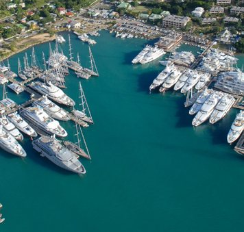 yachts during antigua charter show at falmouth harbour