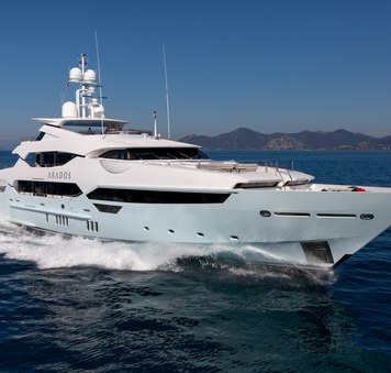 West Mediterranean yacht charter special offer with 47m superyacht ARADOS