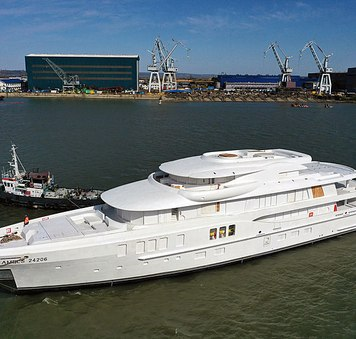 amels superyacht launching
