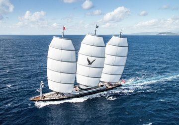 Maltese Falcon yacht charter in Italy