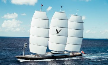 Last-minute yacht charter availability for magnificent 88m sailing yacht MALTESE FALCON