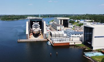 Exclusive: Launch of new Lürssen 115m superyacht 'Project ENZO'