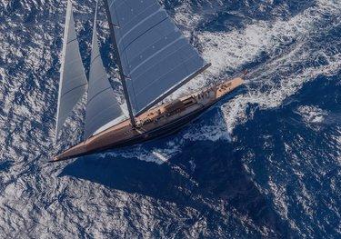 Rainbow charter yacht
