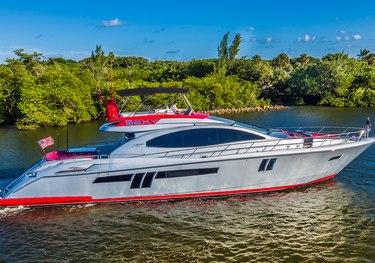 Sexy charter yacht