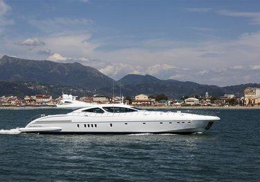 Crazy charter yacht