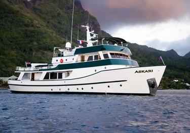CC105 Explorer charter yacht