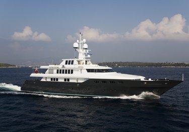 Cyan charter yacht
