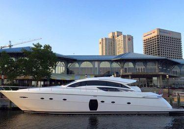 Shine charter yacht